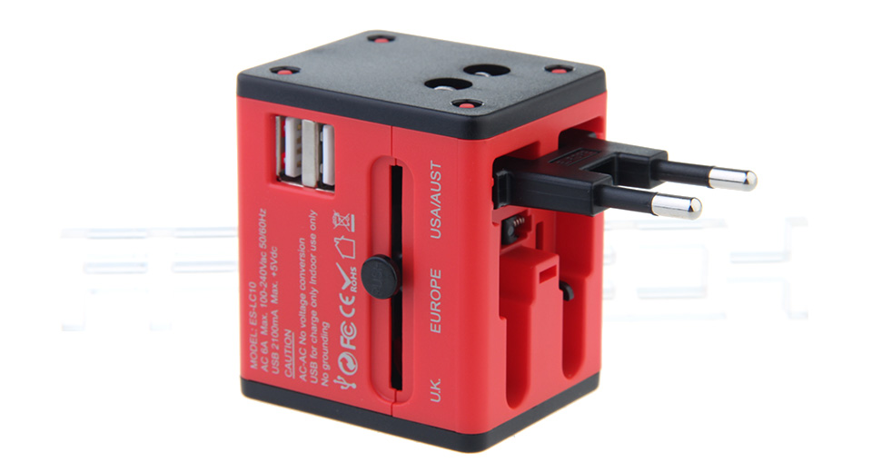 Product Image: earldom-es-lc10-dual-usb-wall-charger-universal