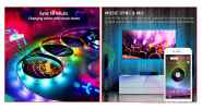 DC 5V USB Powered Bluetooth V4.0 Music RGB LED Light Strip (1m)
