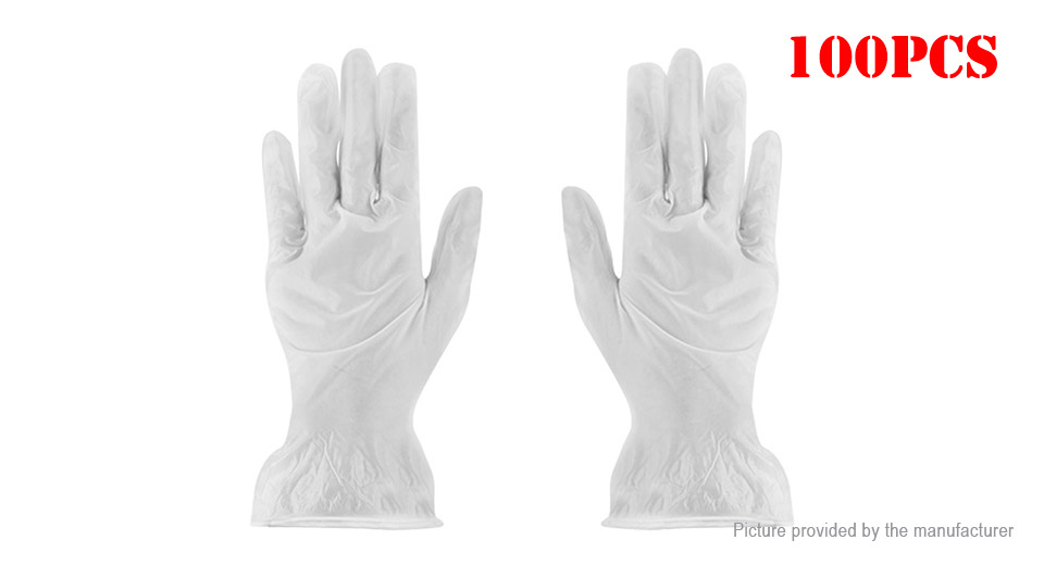 PVC Medical Grade Safety Disposable Protective Gloves (Size M/100-Pack)