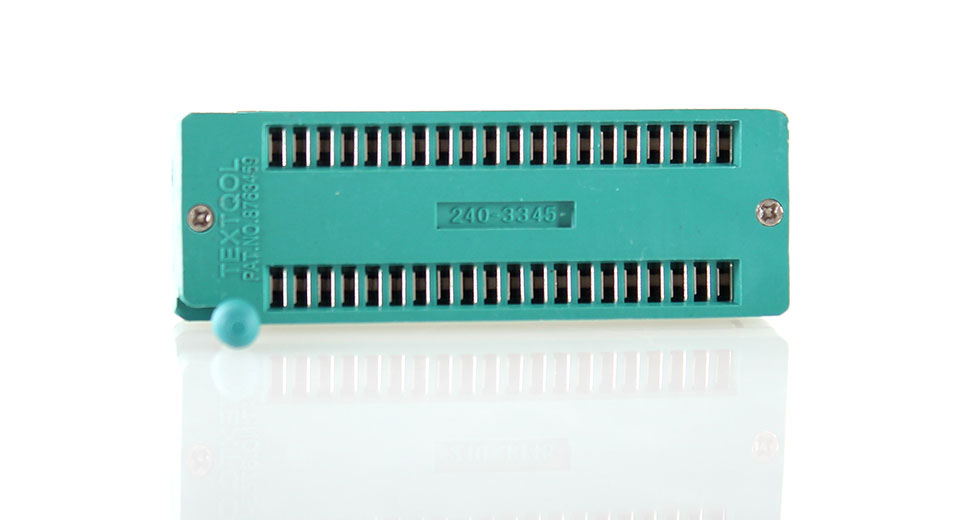40-pin ZIF/ZIP/DIP IC Logic Chip Socket for ICs with up