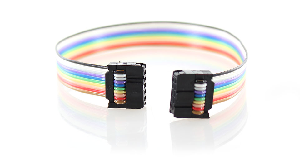 2x5 10-PIN Ribbon Cable for ZigBee/JTAG Programmers 27.