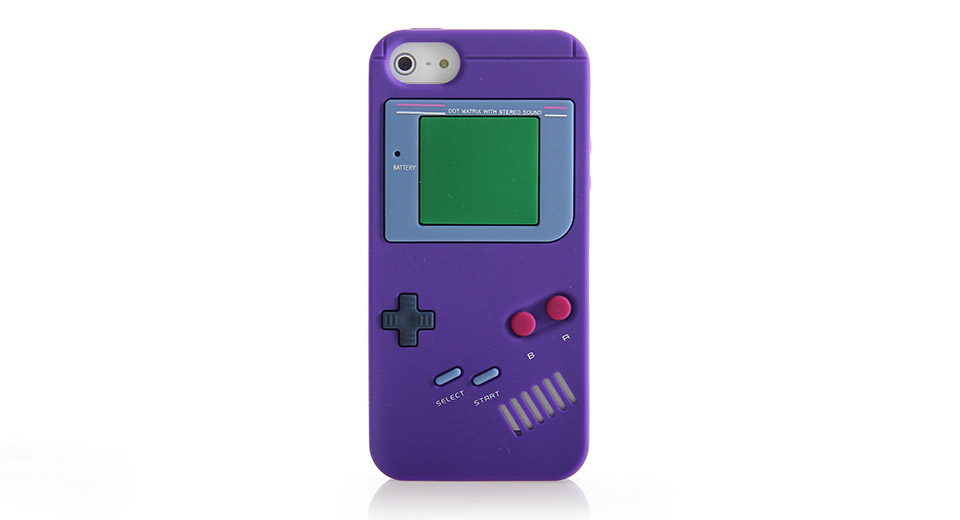 GameBoy Console Style Silicone Protective Case for iPho