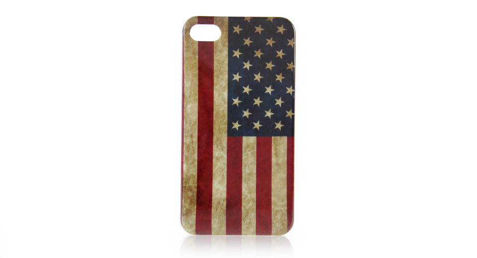 US / American Flag Case for iPhone4/4S