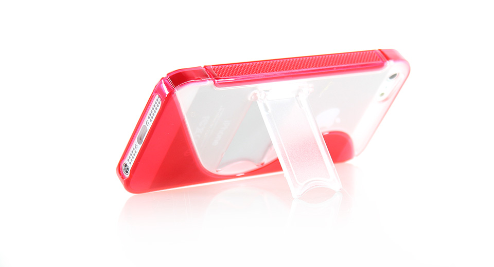 Protective TPU Case with Retractable Stand for iPhone 5