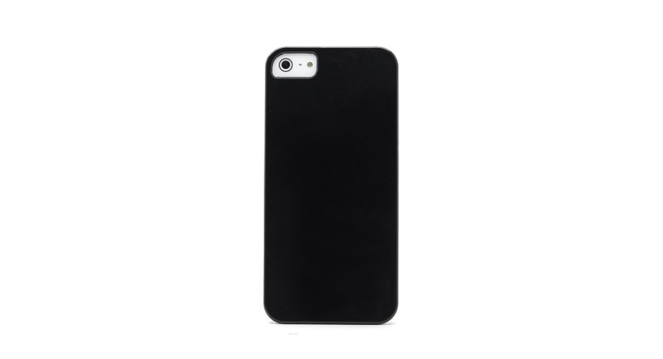 Smooth PVC Protective Case for iPhone 5 (Black) light w