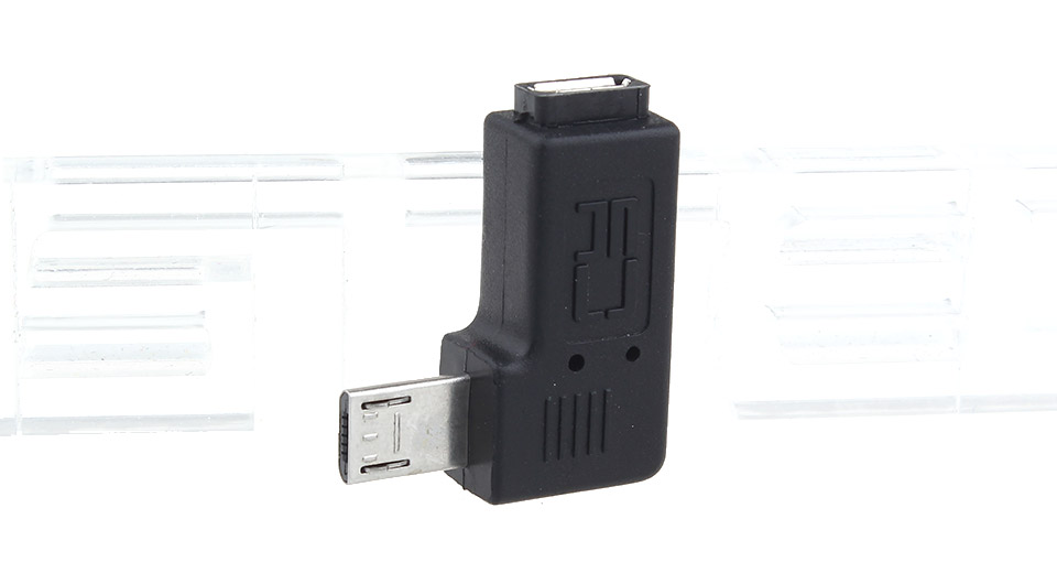 Micro-USB Male to Female Right Angled Adapter