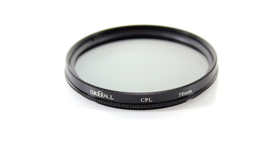 Circular Polarizing CPL Camera Lens Filter (58mm)
