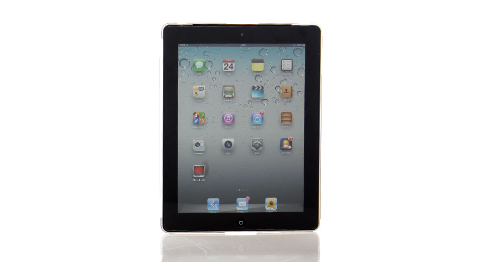 PVC Protective Case for iPad 2 (Grey) ultra thin and li