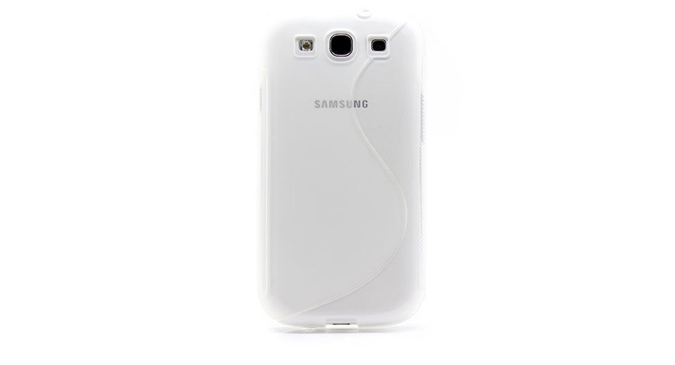 Textured TPU Protective Case for Samsung Galaxy S3 (Tra