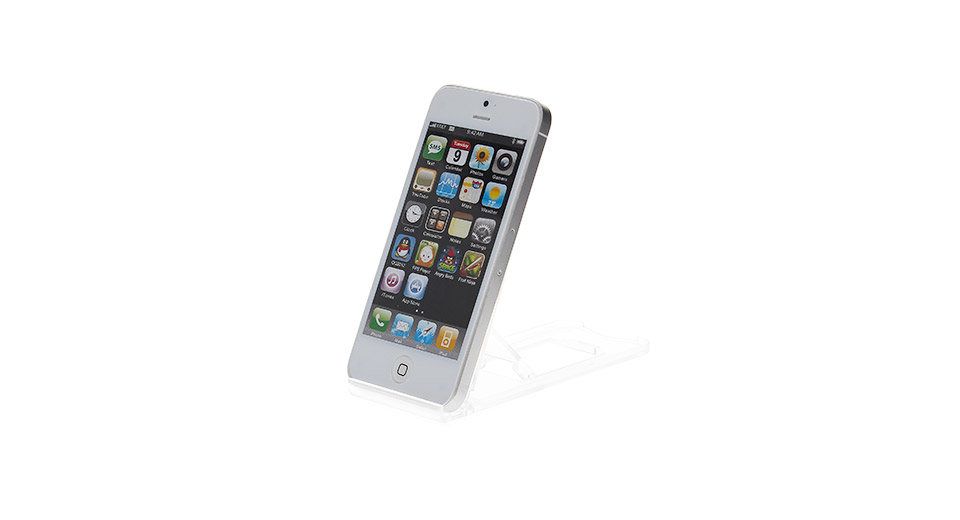 PVC Foldable Holder Stand for iPhone 5 (Grey) also fits