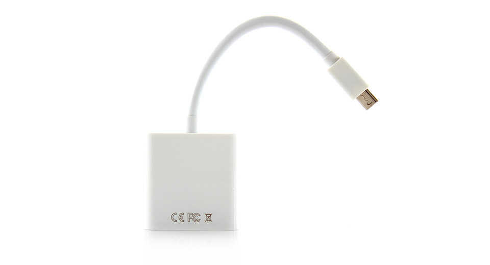 Thunderbolt to VGA Female Video Adapter Cable light pea