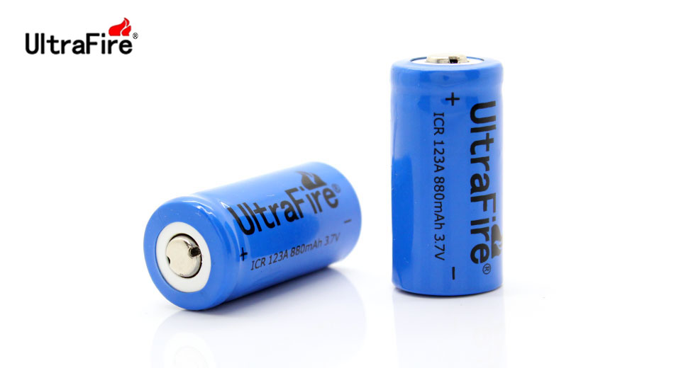 Product Image: ultrafire-cr123a-3-7v-880mah-rechargeable-li-ion