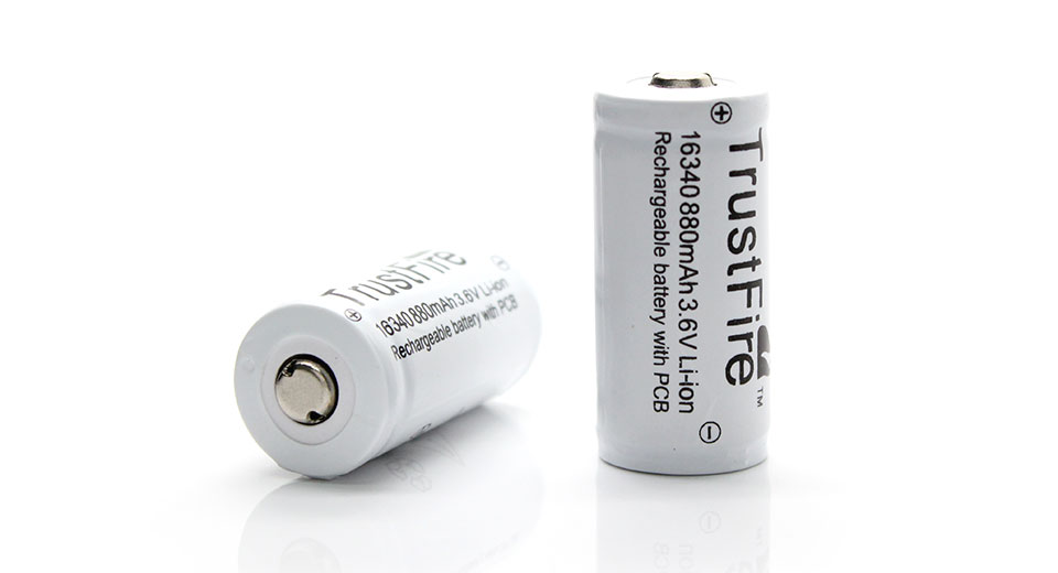 Product Image: trustfire-16340-36v-880mah-protected-rechargeable-