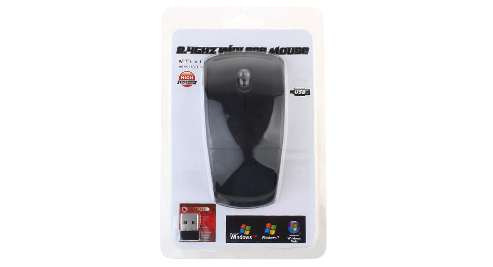 Foldable Arc 2.4Ghz Wireless Optical Mouse