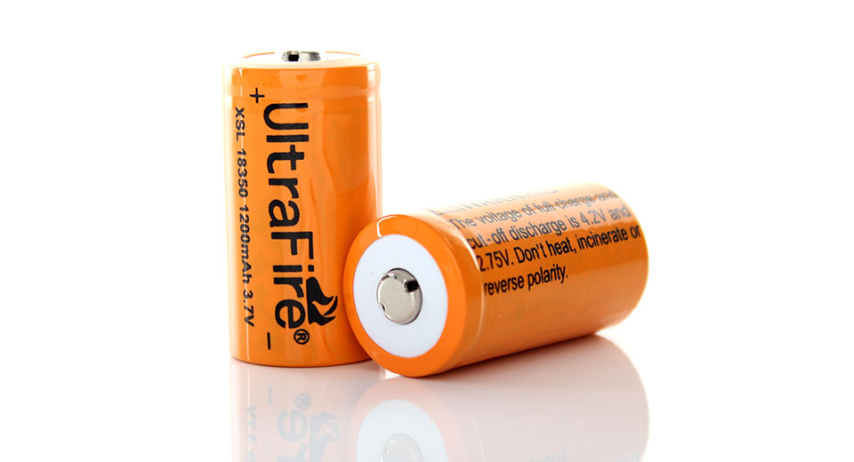 Product Image: ultrafire-18350-3-7v-1200mah-rechargeable-li-ion
