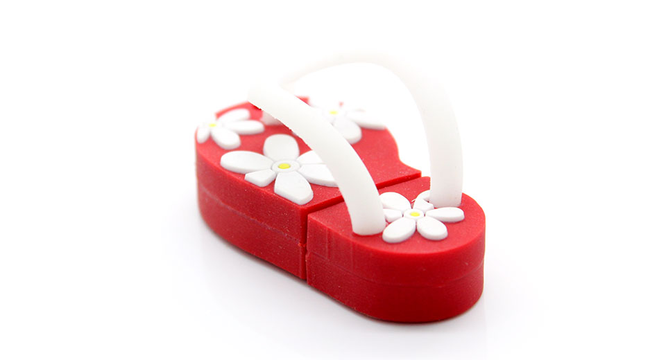 Japanese Slipper Style USB Flash/Jump Drive (16GB) Red