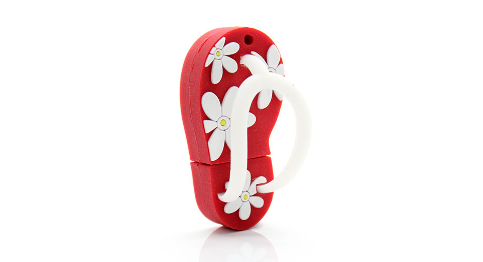 8fe881a7fb95  13.81 Japanese Slipper Style USB Flash Jump Drive (16GB) - Red at ...