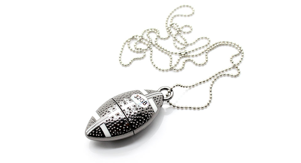 Football Charm USB Flash/Jump Drive (32GB)