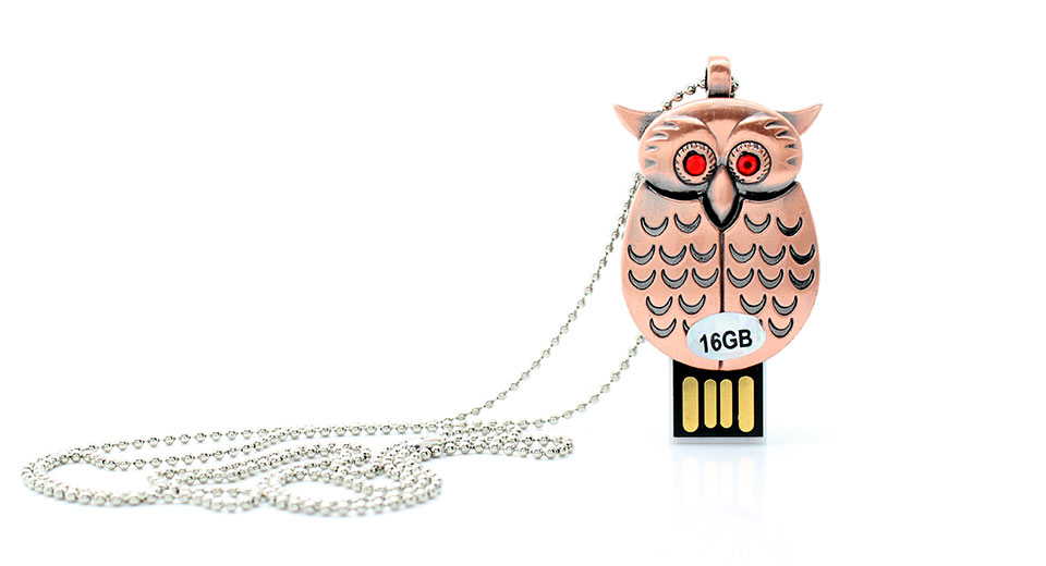 Owl Charm USB Flash/Jump Drive (16GB) owl charm