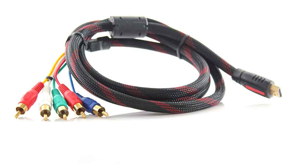 how to connect hdmi to component video audio av cable