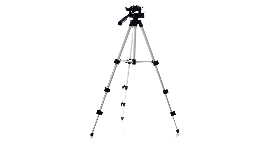 Retractable 4-Section Tripod Stand for Camcorder DSLR C