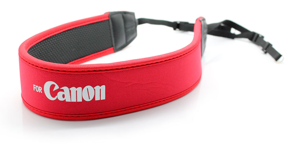 Shoulder Neck Strap for Canon DSLR red