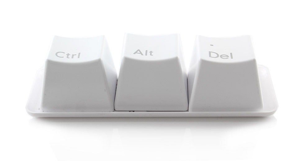 Unique Ctrl Alt Del Cup Set White Keyboard Like