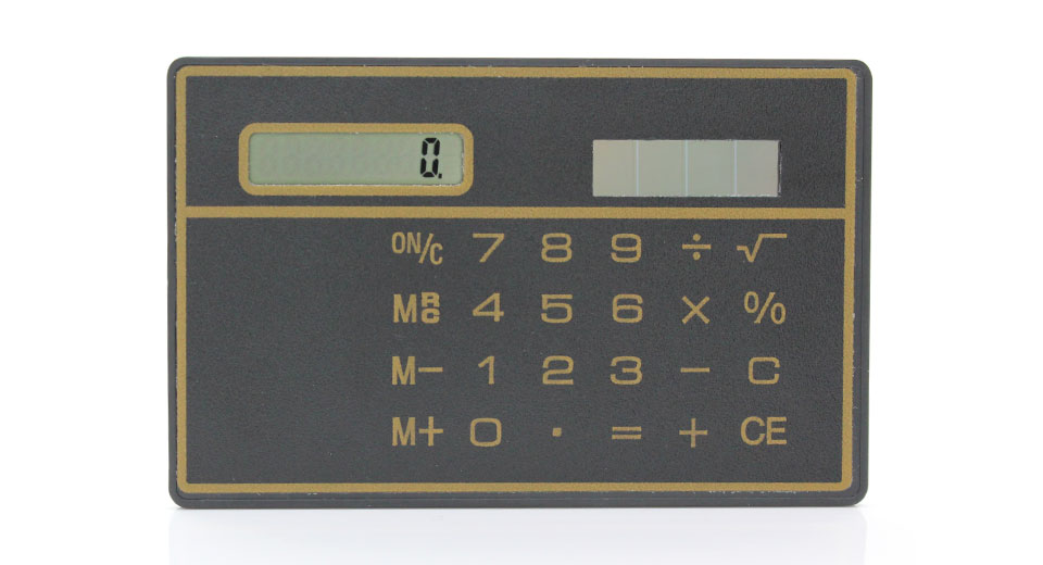 Solar Powered Touch Sensitive Calculator (Black)