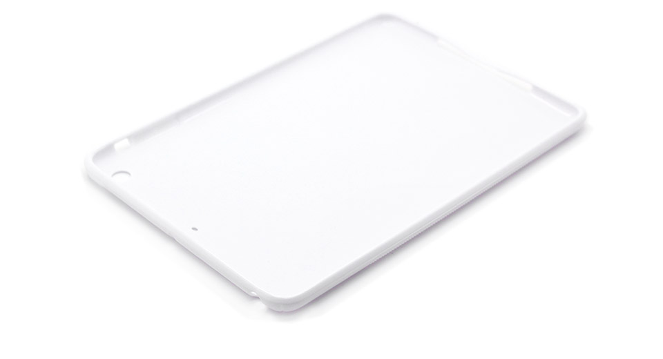 Protective Plastic Back Case for iPad Mini white