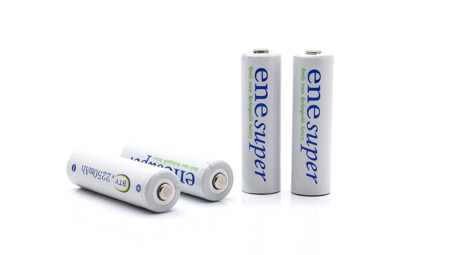 Enesuper AA 1.2V 2250mAh Pre-charged Rechargeable Hybri