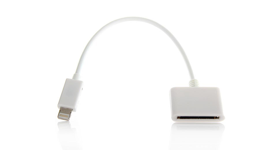 8 pin to 30 pin adapter cable for apple idevices at. Black Bedroom Furniture Sets. Home Design Ideas