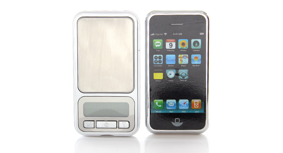 "1.6"" LCD iPhone Shaped Mini Precision Digital Pocket Sc"