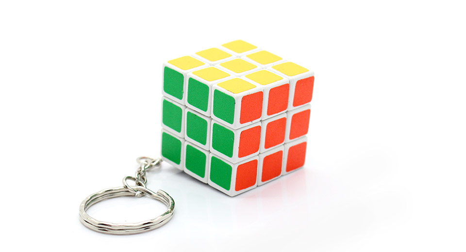 1.33 3x3x3 Puzzle Speed Cube Keychain - white at FastTech ... f94f089015ba