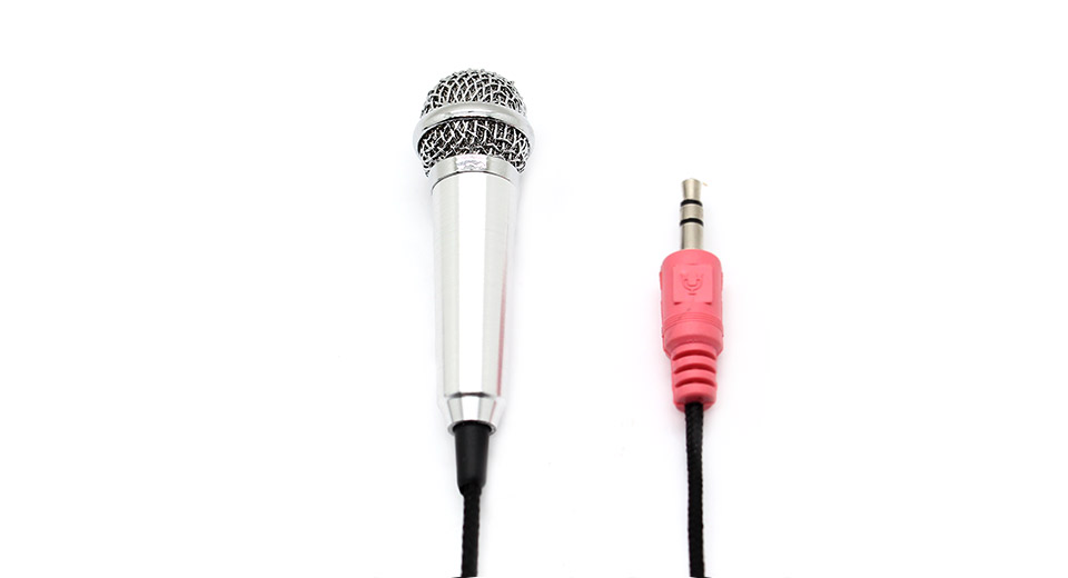 Ultra Mini 3.5mm Microphone for Laptop/Desktop with des