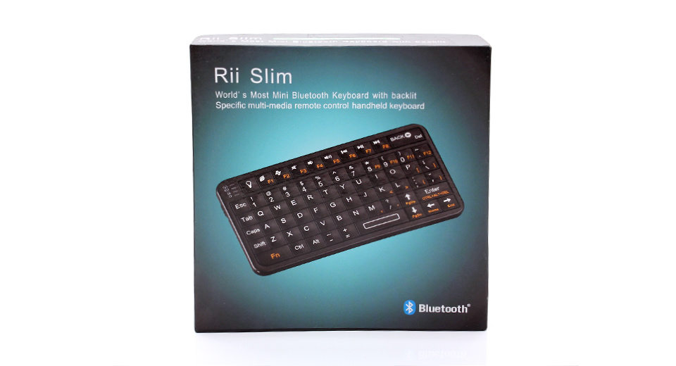 Rii Mini 2.4GHz 66-Key Handheld Rechargeable Bluetooth