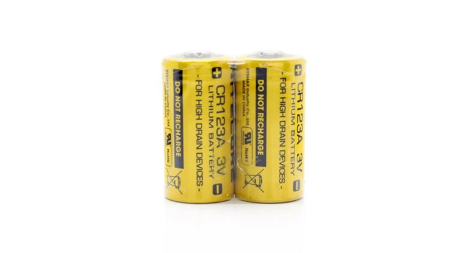 423 Authentic Nitecore Cr123a Primary Lithium Batteries 2 Pack 2
