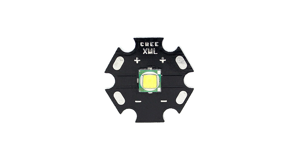 CREE XM-L White LED Emitter with 20mm Star U2-1A / 7000