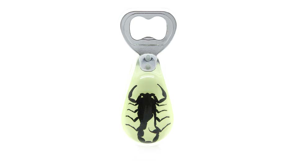 scorpion amber glow bottle opener light green at fasttech worldwide free shipping. Black Bedroom Furniture Sets. Home Design Ideas