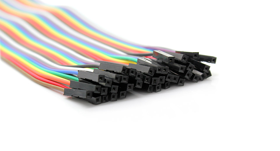 Male to Female 40-Pin DuPont Breadboard Jumper Wires (20cm)