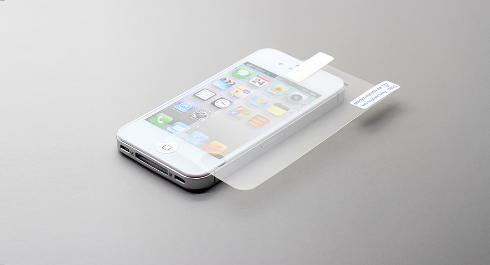 Matte Front + Black Screen Protector Set for iPhone 4/4