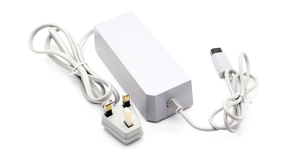 UK AC Power Adapter for Wii Console grey