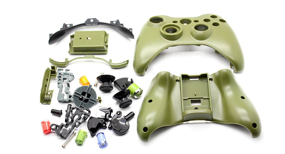 Replacement Housing Case Kit for Xbox 360 Wireless Cont