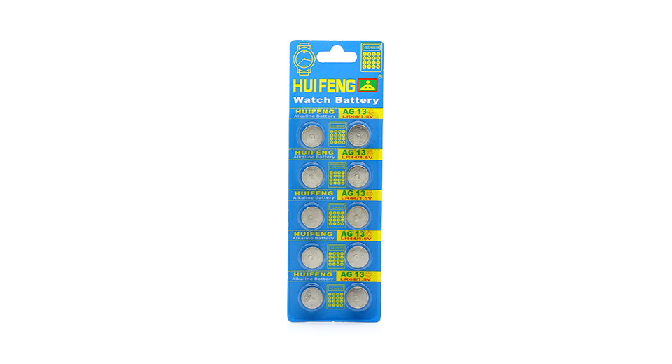 Product Image: huifeng-ag13-lr44-1-5v-cell-button-batteries-10