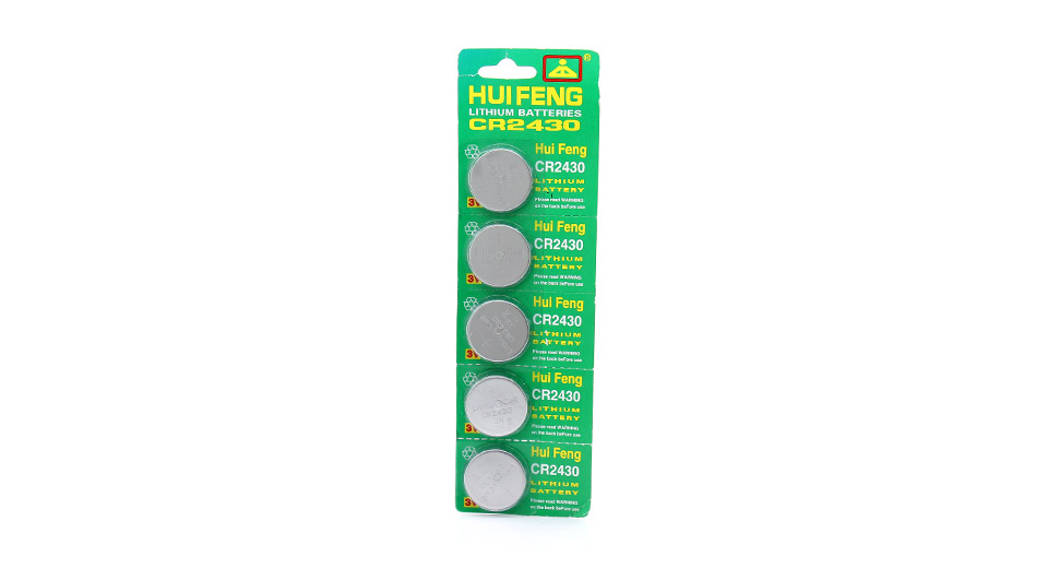 Product Image: huifeng-cr2430-3v-cell-buttons-batteries-5-piece