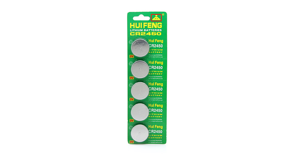 Product Image: huifeng-cr2450-3v-cell-buttons-batteries-5-piece