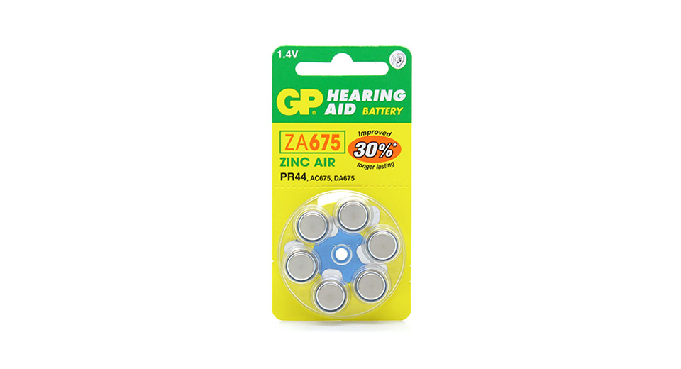 Product Image: authentic-gp-za675-pr44-14v-cell-button-batteries-