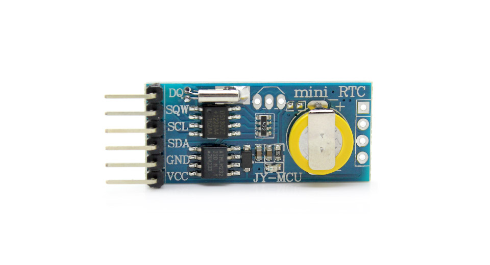 ... Time Clock Module AT24C32 32K I2C EEPROM memory / for AVR ARM PIC ↓ details & specifications. Product Image: jy-mcu-mini-rtc-ds1307-arduino -compatible
