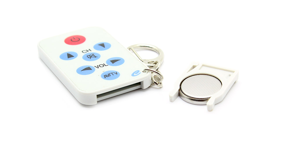 Super Mini TV Universal Remote Controller Keychain 1xCR