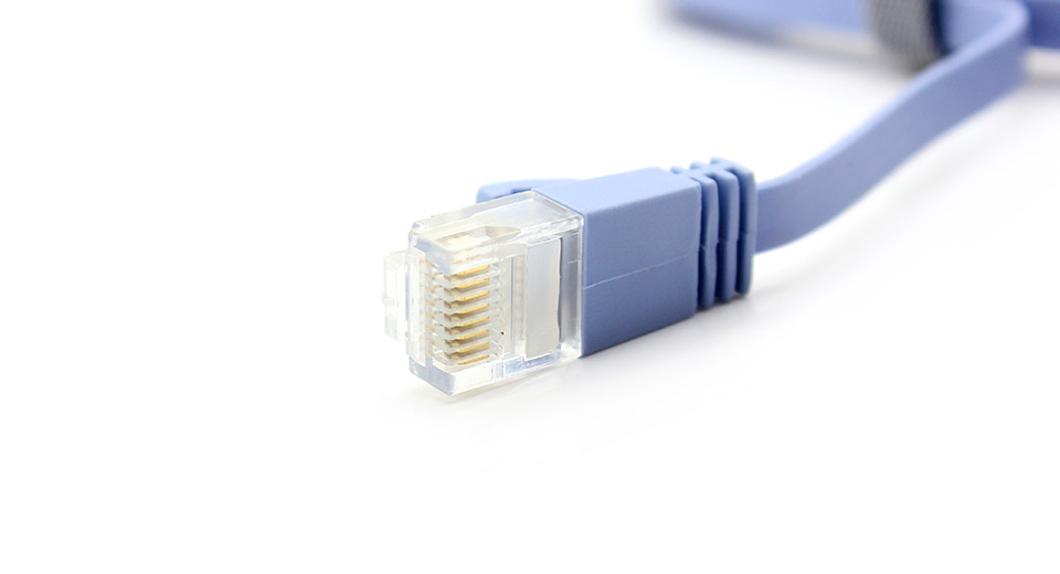 CAT6a RJ45 Flat Ethernet LAN Network Cable 2 meters / 6