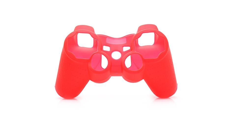 Protective Silicone Case for PS3 Controller red